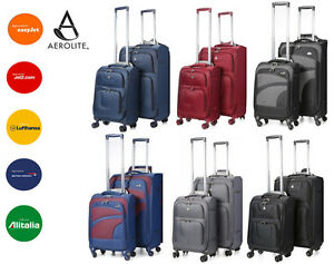 CHEAP CLEARANCE Aerolite Lightweight 4 Wheel Suitcase Hand Cabin ...