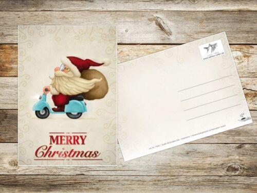 15 lustige Weihnachtskarten //Set mit 5 witzigen Weihnachtsmann-Motiven
