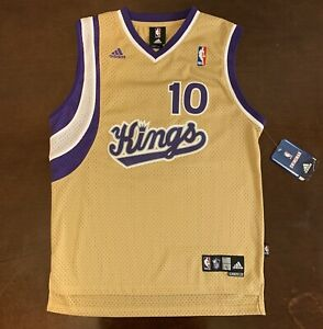 online retailer 6b3c3 9b013 Details about Rare Vintage Adidas NBA Sacramento Kings Mike Bibby Gold  Jersey Youth L