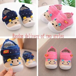 Newborn Baby Soft Sole Sound Sneakers Shoes Boy Girls Toddler First Walker Shoes