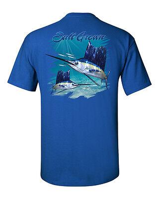 Salt Grown Saltwater fishing t shirt deep sea trolling Sailfish sport fish reel
