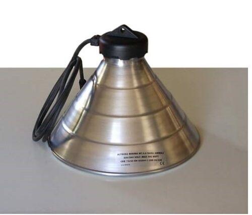 riflettore lampada in alluminio pulcini suini diametro 32 cm