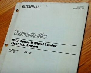 details about caterpillar 950f wheel loader electrical wiring schematic diagram manual service  950f electrical connector switch