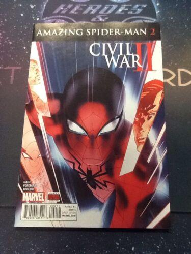 6509 MARVEL COMICS VF//NM 9.0 CIVIL WAR II: AMAZING SPIDER-MAN #2 2016