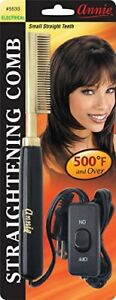 PRESSING-COMB-ANNIE-ELECTRIC-SMALL-STRAIGHT-TEETH-500F-PROFESSIONAL-NEW