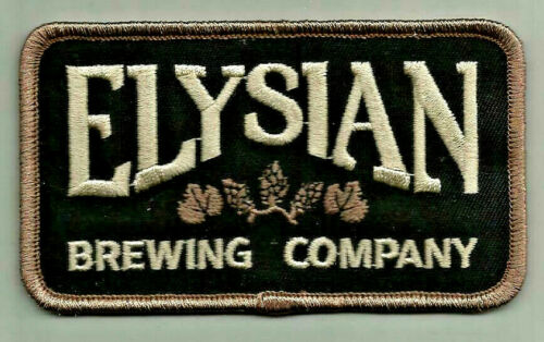 "Elysian Brewing Co  Uniform or Shirt Patch  4/"" X 2 1//4/"""