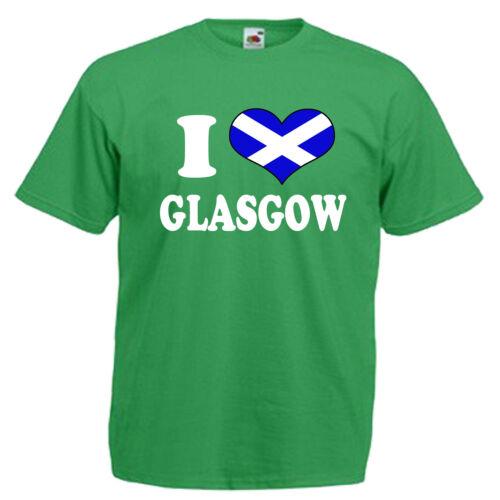 Escocia Niños T Shirt I Love Corazón Glasgow