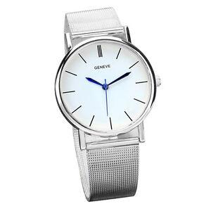 Klassisch-Casual-Armbanduhren-Damen-Edelstahl-Analog-Quarz-Mode-Uhren