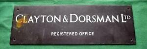 c1930-Brass-Bronze-Clayton-amp-Dorsman-Ltd-Antique-Sign-Plaque-15-034-X-5-034