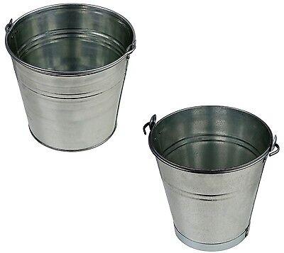 Eimer Zinkeimer Blecheimer Verzinkt Wassereimer Dekoeimer 5-12 Liter Metalleimer Gut FüR Energie Und Die Milz