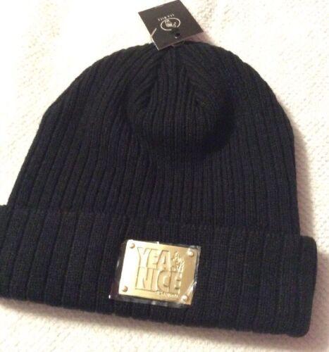 Black Yea.Nice beanie with gold metal logo tag