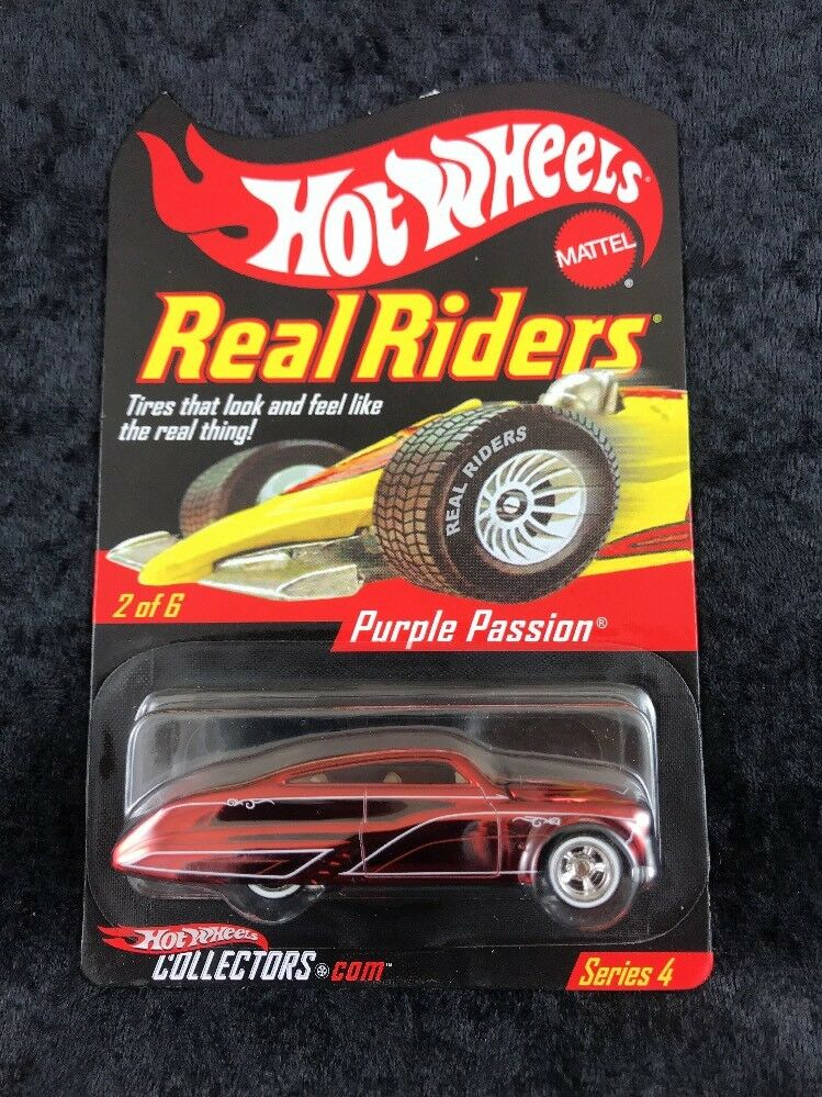 Hot Wheels Collectors Club Real Riders Series 4 Red Purple Passion