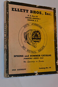 vintage 1955 fishing supplies dealer catalog! rods/reels/lures, Fishing Gear