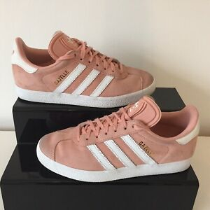 Details about Adidas Gazelle Pink Suede Trainers Women`s Size UK 5 (38)