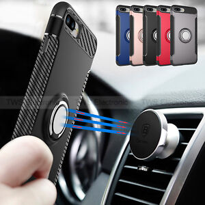 separation shoes a7364 10f7e Details about For iPhone XS 8 Plus Shockproof Ring Finger Loop Grip  Magnetic Stand Case Cover