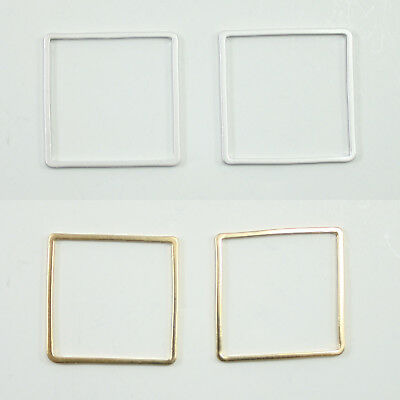 """about 1//2/"""" CHS2806 30 Silver Plate SQUARE CONNECTORS Jewelry Metal Links 13mm"""