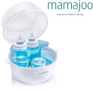 Mamajoo Baby mmj1752 Mikrowellen Sterilisator Dampf Essen zubehör Weiß Blau ,