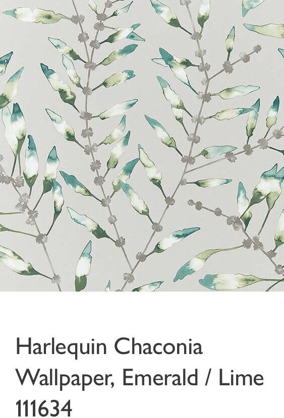 Harlequin Chaconia Wallpaper 111634 Emerald Lime, RRP
