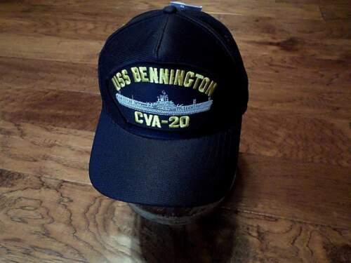 USS BENNINGTON CVA-20 NAVY SHIP HAT OFFICIAL U.S MILITARY BALL CAP U.S.A MADE