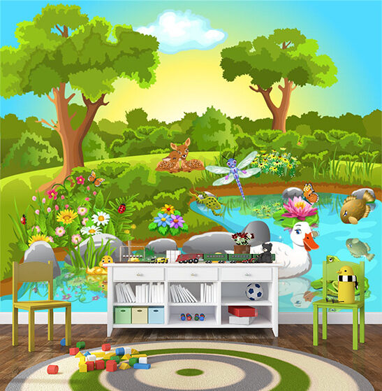 3D Animal Paradise 1504 Paper Wall Print Wall Decal Wall Deco Indoor Murals