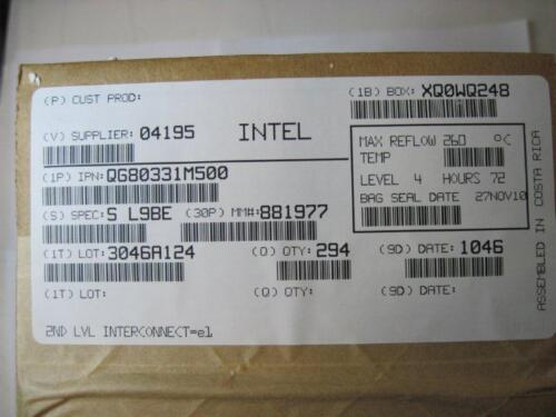Factory Sealed NEW SL9BE QG80331M500 INTEL