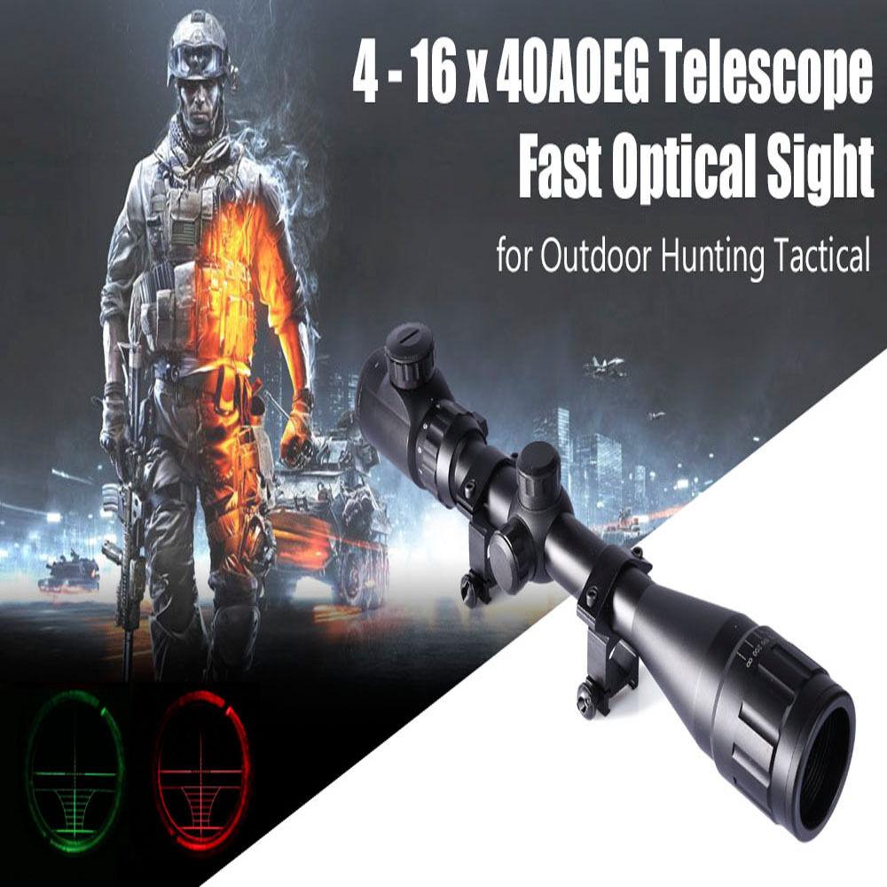 4-16 x 40AOEG Tactical Hunting Optical Reticle illuminated Scope Sight Telescope