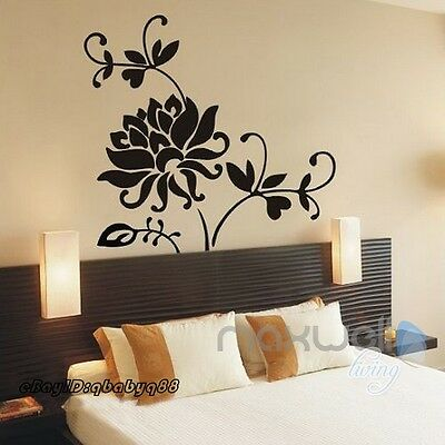 Large Lotus Flower Wall stickers Removable decals home decor DIY art kids mural