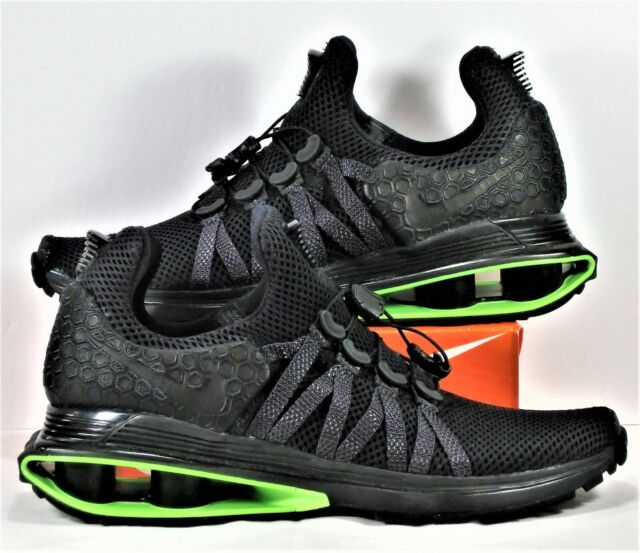 2b5c0342970855 Nike Shox Gravity LUXE Black Green Strike Running Shoes Sz 6 NEW AR1470 003
