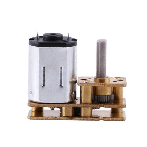 2018 DC12V Micro U-Typ Inversion Speed Reduction Gear Box Motor N20 60-1000RPM#
