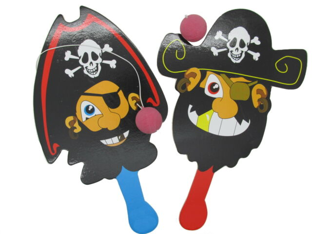 12x Piraten Paddel mit Flummi Mitgebsel Piratenfest Pirat Kindergeburtstag Ball