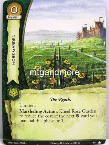 A Game of Thrones 2.0 LCG Base Set-Second Edition 1x Rose Garden #194