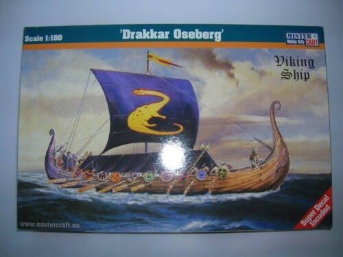 MisterCraft Drakkar Oseberg Bausatz Model Kit 1:180 Wikinger Schiff 042097
