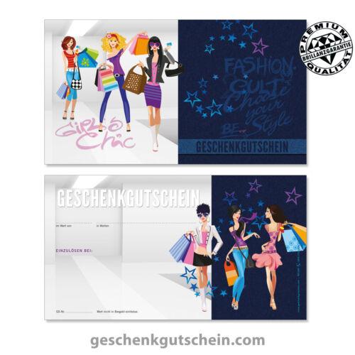 """Bekleidung Gutscheinkarten /""""Standard/"""" für Mode Boutiquen FA1247 Fashion"""