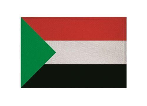Ricamate Sudan bandiera bandiera aufbügler Patch 9 x 6 cm