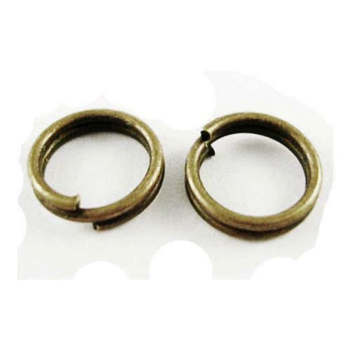 pcs À faire soi-même Bijoux Plaqué Fer Rond Split Anneaux Antique Bronze 0.7 X 5 mm 600