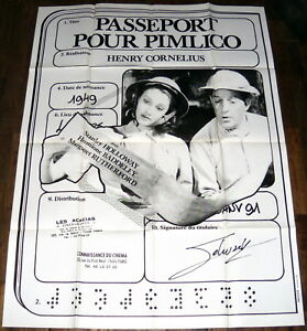 PASSPORT-TO-PiMLiCO-Stanley-Holloway-Hermione-Baddeley-LARGE-French-POSTER