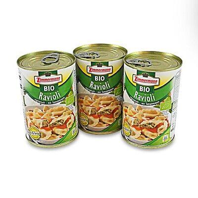 (9,16€/1l) BIO Ravioli vegetarisch 3er Pack (3 Dosen à 400 ml)
