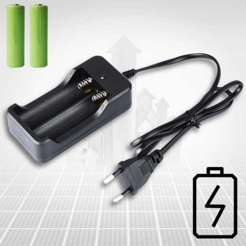 EU Ladegerät Charger Adapter für 2tlg 18650 3.7v Li-ion Akku Batterie Nett Neu