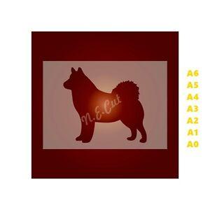 HUSKY-Dog-Stencil-350-micron-Mylar-not-Hobby-stuff-DOGS070