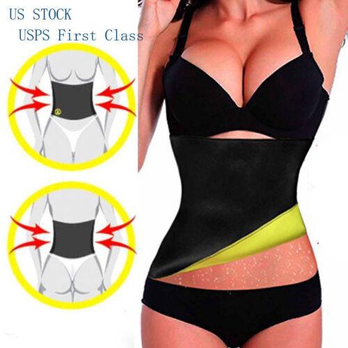 HOT Sweat Sauna Waist Trainer Cincher Girdle Slimming Neoprene Shaper Belt Women