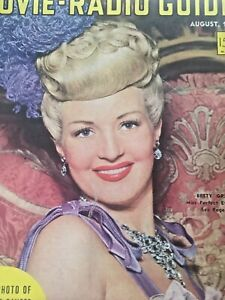 Vintage-Collectible-Movie-Magazine-Movie-Radio-Guide-August-1943-Betty-Grable