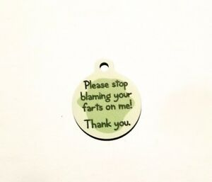 PET-TAG-ID-FART-BLAME-TAG-DIAMOND-ENGRAVED-PERSONALIZED-PET-TAGS-DOG-CAT-ID