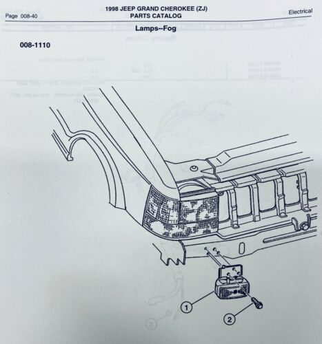 OEM 1996-1998 Jeep Grand Cherokee ZJ Left Right Fog Light Adjusting Bracket Bolt