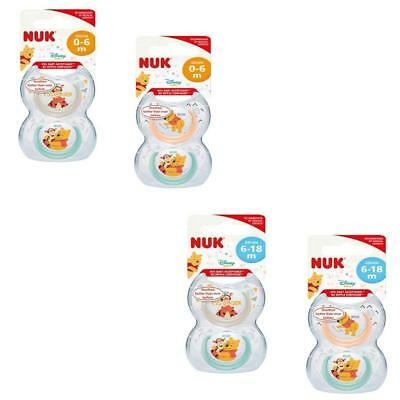 Nuk Genius Orthodontic Soother 2 in pack  0-6m 6-18m  Boys Blue//White  Bpa free