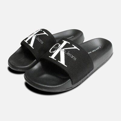 095345f4b5c38b Calvin Klein Womens Chantal Slides in Black