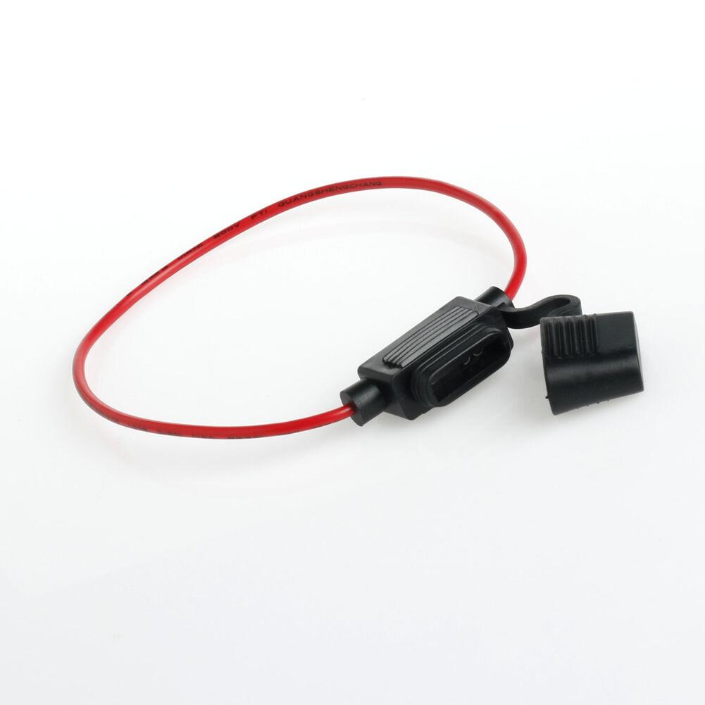 5pcs In Line Car Mini Blade Fuse Holder Splash-proof for 12V 30A Fuses
