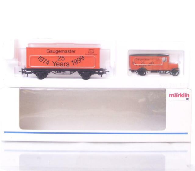 Marklin Sonderausgabe HO Gauge 3 Schiene-Gaugemaster Container Waggon & LKW