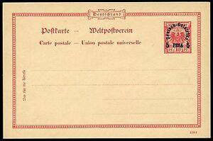 127-DOA-1895-Postkarte-10-Pf-mit-Probeaufdruck-Type-V-Ungebraucht-Tadellos-RAR