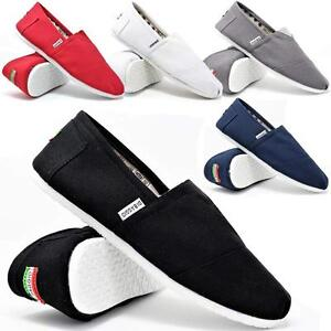 Mens-Slip-On-Casual-Canvas-Espadrilles-Summer-Plimsolls-Trainers-Pumps-Shoe-Size