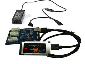 SINTECH-laptop-expresscard-to-3port-1X-Multiplier-HUB-riser-card-with-50cm-cable